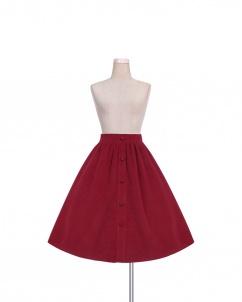 Elegant Wine Red Long Lolita Skirt