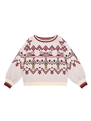 Christmas Round Neckline Long Sleeves Lolita Sweater