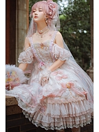 [DevilInspired Special Offer] Ready to Ship - Song in the Moonlight Hanayome Lolita Dress Full Set with Two Gorgeous Headpieces by Garden Cat