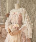 Round Neckline Trumpet Sleeves Elegant Lolita Blouse