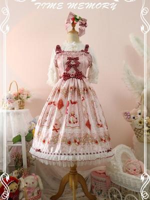 Strawberry Chanson Square Neckline Sweet Lolita Dress JSK