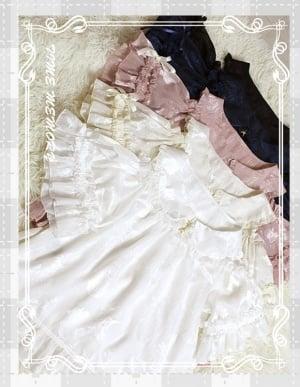 Crackers 5 Colors Peter Pan Collar Open Shoulder Short Puff Sleeves Lolita Blouse