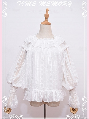 Fruit Candy Off-the-shoulder Neckline Leg-of-mutton Sleeves Lolita Blouse