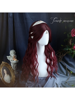 Retro Gothic Middle Length Lolita Synthetic Wig