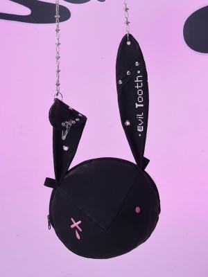 Punk Rivet Bunny Ears Dark Kawaii Crossbody by Evil Tooth