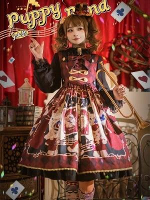 Puppy Band Lolita Dress JSK by Honey Machine