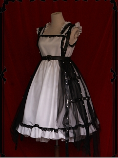 Nameless Stele Gothic Lolita Dress Matching Overdress by Unbelievable Roaming Country