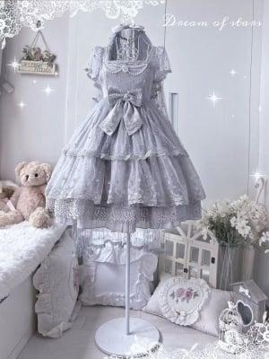 Dream of Stars Square Neckline Hanayome Elegant Lolita Dress JSK