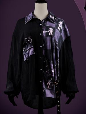Devil's Heart Turndown Collar Long Sleeves Elegant Gothic Lolita Shirt by Weaving Dream Hall