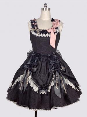 Party Day Square Neckline Gothic Lolita Dress JSK Full Set