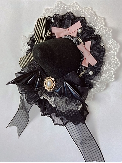 Party Day Gothic Lolita Dress JSK Matching Witch Hat Hairclip