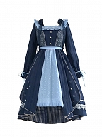 Singing Cicadas in Summer Night Lolita Dress OP by With PUJI