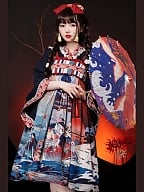 Ghosts Tale Wa Taishō Style Lolita Dress JSK Set by With PUJI