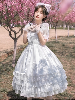 Dream QingMu Gorgeous Short Sleeves Lolita Dress OP by With PUJI