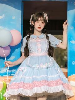 Dream Affection Peter Pan Collar Sweet Lolita Dress OP Set by With PUJI