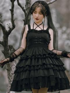 BAD J Twilight Tiered Skirt Lolita Dress JSK by With PUJI