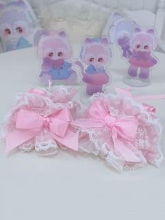 Sweet Beans Macaron Sweet Lolita Dress Matching Wristcuffs by C C Cat