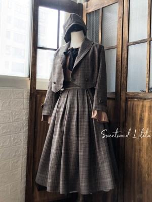 Elegant Agatha Incident Book Detective Lolita Suit Jacket / Shirt by Sweetwood Lolita