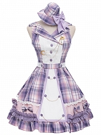 Starlish Plaid Sweet Lolita Idol Dress JSK Set by YINGLUOFU