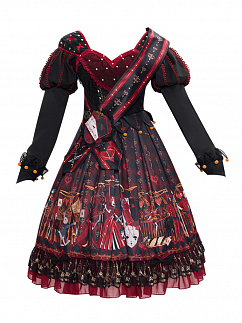 The Queen Of Hearts Gothic Lolita Dress OP Set by YINGLUOFU