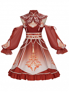 The Phoenix Calls Han Lolita Dress JSK Full Set by YINGLUOFU