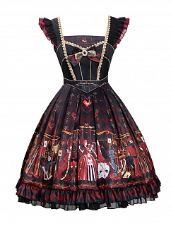 The Queen Of Hearts Gothic Lolita Dress JSK Set by YINGLUOFU