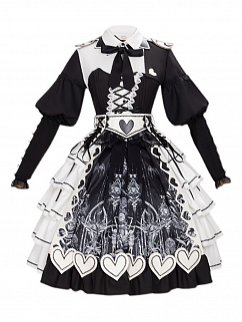 Red Eyes Gothic Lolita Dress OP Set by YINGLUOFU