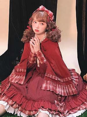 Little Red Riding Hood Lolita Dress Matching KC / Hairclip by Your Highness