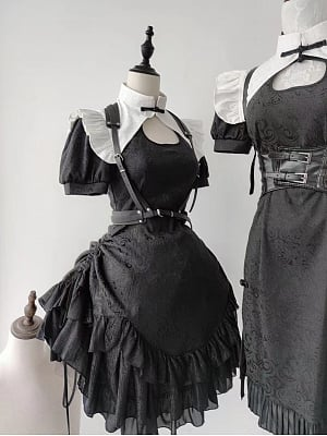 Maid A-line Skirt Gothic Qi Lolita Dress OP by YourHighness