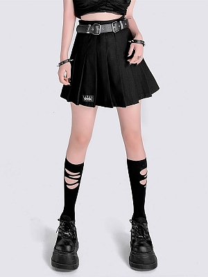 Punk Pleated Skirt by YUBABY