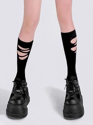 Punk Broken Hole Stockings by YUBABY
