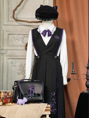 Halloween Evil Meow Dress Matching Handbag / Beret / Tie