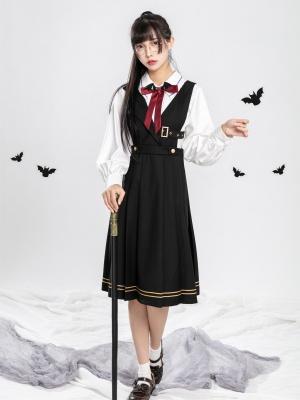 Front Halloween Day JK V-neck Overall Dress