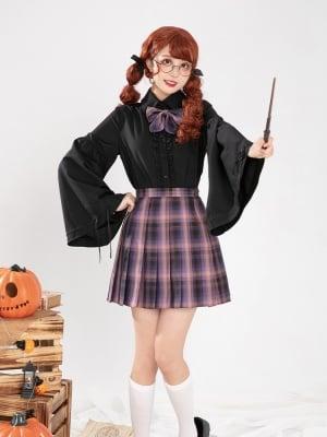 Halloween Castle Nocturne JK Pleated Skirt