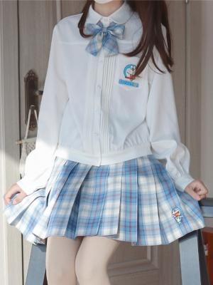 Doraemon Authorized Turndown Collar Long Sleeves Shirt by YUESH