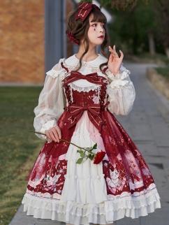 Raccoon Hydrangea Elegant Lolita Dress JSK by ZhiJinYuan