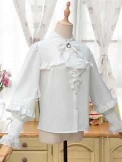 Sonata Elegant Long Balloon Sleeves Lolita Shirt by ZhiJinYuan