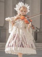 Defender Criss-cross front Gothic Lolita Dress JSK by ZhiJinYuan