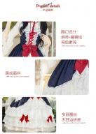 Dusk Snow Criss-cross front Tiered Flounce Skirt Lolita Dress JSK by ZhiJinYuan