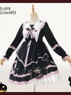 Magic House Halloween Witch Long Sleeves Lolita Dress OP
