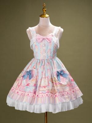 Ready to Ship - Teddy's Birthday Party Sweet Lolita Dress by Lollipops Lolita