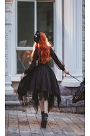 Ready to Ship Gothic Qi Lolita Blouse by Lollipops Lolita
