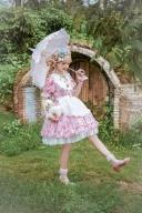 Strawberry Picking Summer Shining Chiffon Fabric Sweet Lolita Dress by Lollipops Lolita