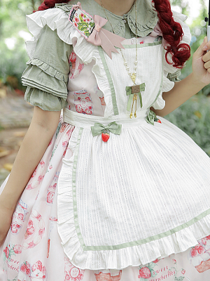 DevilInspired Special Offer - Strawberry Picking Cotton Apron / Bloomers